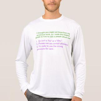 Geschlechts-neutrale Pronomen-Schablone T-Shirt
