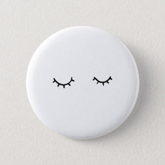Geschlossene Augen, gerade Wimpern Runder Button 5,1 Cm
