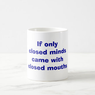 Geschlossene SinnesTasse Kaffeetasse