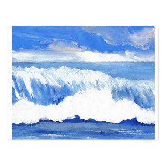 Geschmack des Meer- blauer Ozean Wellen-Meerblick Postkarten