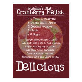 Geschmack-Rezept der Großmutter bestes Moosbeer Postkarte