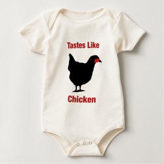 Geschmäcke mögen Huhn Baby Strampler