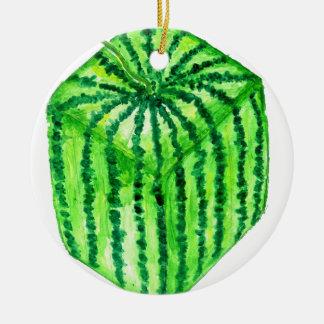 Geschmackvolle Wassermelone Art2 Keramik Ornament