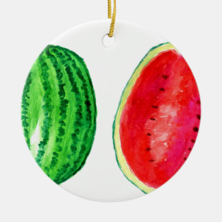Geschmackvolle Wassermelone-Kunst Keramik Ornament