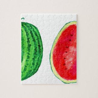 Geschmackvolle Wassermelone-Kunst Puzzle