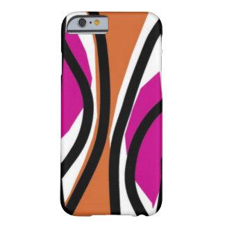 Geschmackvolles Wellenrosa/-orange Barely There iPhone 6 Hülle