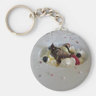 Geschmolzener Schokoladenball mit Zabaglionecreme Schlüsselanhänger