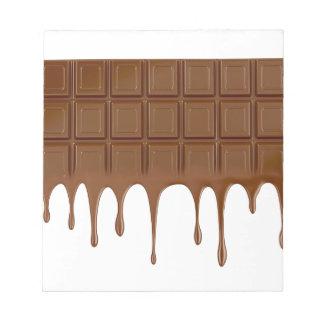 Geschmolzenes Schokoladen-Bar Notizblock