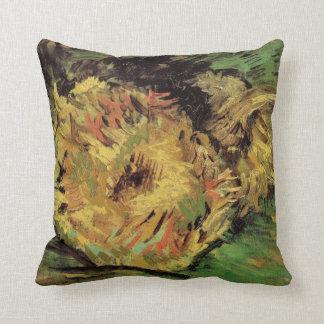 Geschnittene Sonnenblumen Van Gogh 2, Vintage Kissen