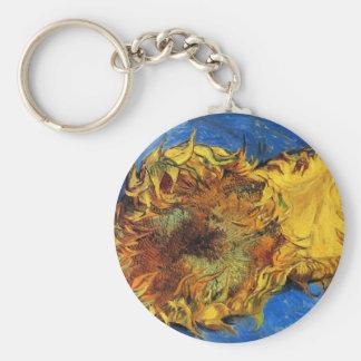Geschnittene Sonnenblumen Van Gogh zwei, Vintage Schlüsselanhänger
