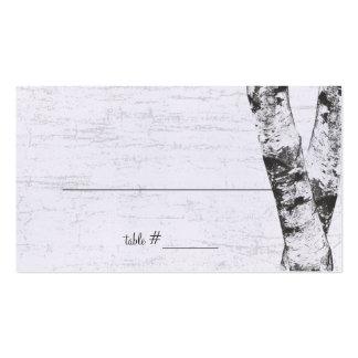 Geschnitzte Herz-Birken-Baum-Sitzplatz-Karten Visitenkarten