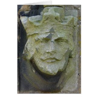 Geschnitzte Könige Head, England Karte