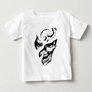 Geschnitzter lachender gotischer Schädel-Grafik-T Baby T-shirt