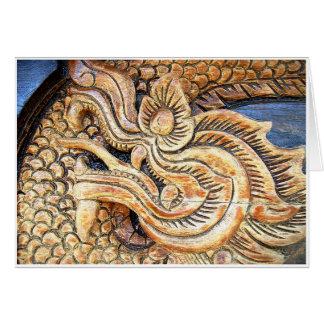 Geschnitzter thailändischer Drache Karte