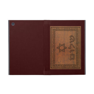 Geschnitztes hölzernes Shalom iPad Mini Schutzhüllen