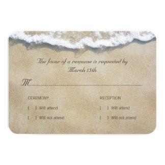 Geschrieben in das Sand-Strand-Hochzeit UAWG Karte
