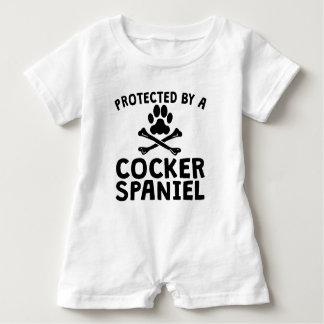 Geschützt durch Cocker spaniel Baby Strampler