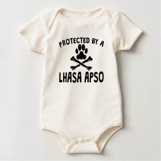 Geschützt durch ein Lhasa Apso Baby Strampler