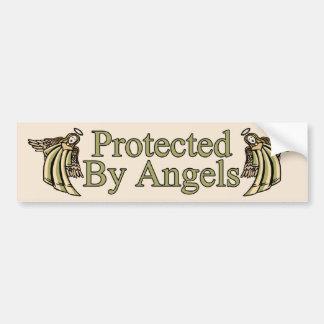 Geschützt durch Engel Autoaufkleber