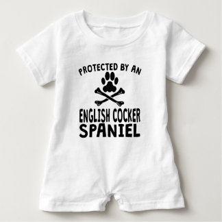 Geschützt durch englisches Cocker spaniel Baby Strampler