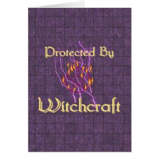 Geschützt durch Hexerei Karte