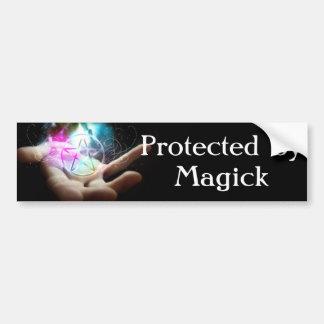 Geschützt durch Magick Autoaufkleber