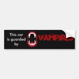 Geschützt durch Vampire Autoaufkleber