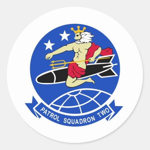 Geschwader der Patrouillen-VP-2 Runder Sticker