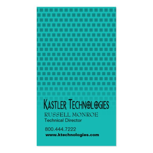 Geschwankter Quadrat-High-Techer Visitenkartenvorlage