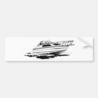 Geschwindigkeits-Boots-Kreuzer Autoaufkleber