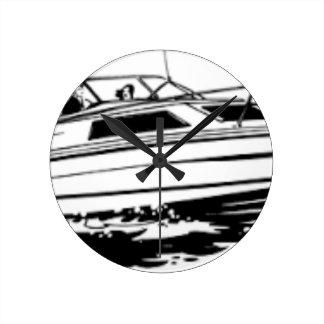 Geschwindigkeits-Boots-Kreuzer Runde Wanduhr