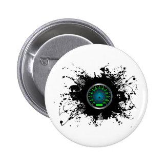 Geschwindigkeits-Emblem-städtische Art 5 Runder Button 5,1 Cm