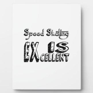 Geschwindigkeits-Skaten ist ausgezeichnet Fotoplatte