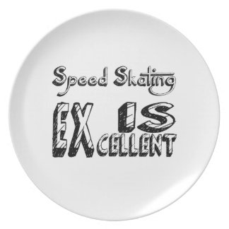 Geschwindigkeits-Skaten ist ausgezeichnet Teller