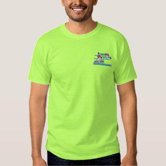 Geschwindigkeits-Skater Besticktes T-Shirt