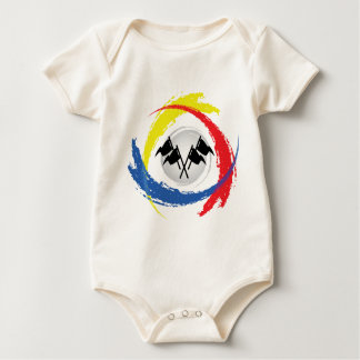 Geschwindigkeits-Tricolor Emblem Baby Strampler