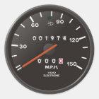 Geschwindigkeitsmesser des Klassikers 911 (altes Runder Aufkleber