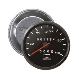Geschwindigkeitsmesser des Klassikers 911 (altes Runder Button 5,7 Cm