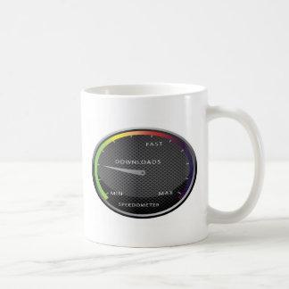 Geschwindigkeitsmesser-Grafikdesign Kaffeetasse
