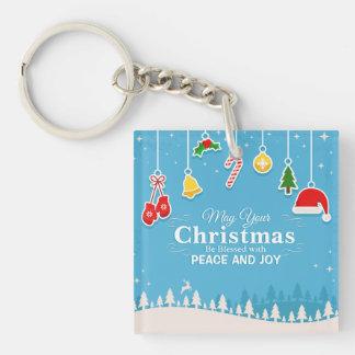 Gesegnet mit Friedens-u. Freude-Weihnachten | Schlüsselanhänger
