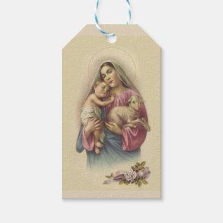 Gesegnete Jungfrau-Mary-Baby-Jesus-Blumen Geschenkanhänger