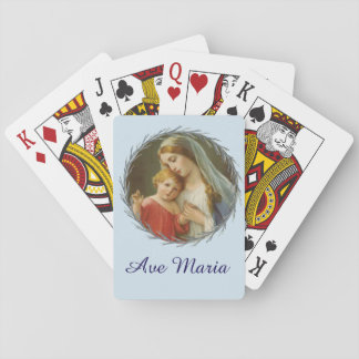 Gesegnete Jungfrau Mary mit Baby-JesusWreath Spielkarten