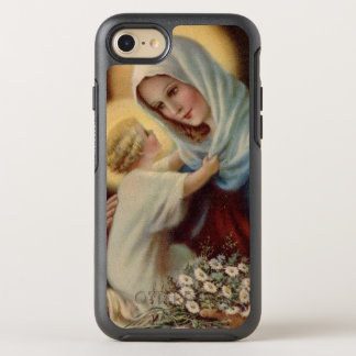 Gesegnete Jungfrau Mary mit Baby-Kind Jesus OtterBox Symmetry iPhone 8/7 Hülle
