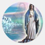Gesegnete Jungfrau Mary - Mutter des Gottes Runde Aufkleber
