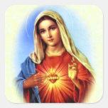 Gesegnete Jungfrau Mary - Mutter des Gottes Quadratsticker