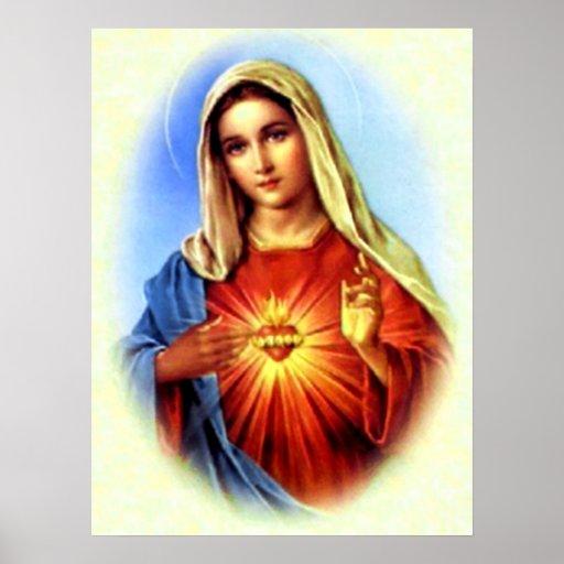 Gesegnete Jungfrau Mary - Mutter des Gottes Plakatdrucke