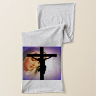 Gesegnete Jungfrau Mary und das Kreuz Schal