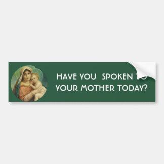 Gesegnete Jungfrau-Mutter Mary, die Jesus hält Autoaufkleber