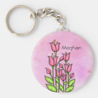 Gesegnete Watercolor-Gekritzel-Blume Keychain Schlüsselanhänger