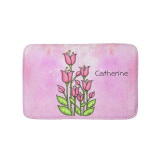 Gesegnete Watercolor-Gekritzel-Blumen-Badematte Badematte